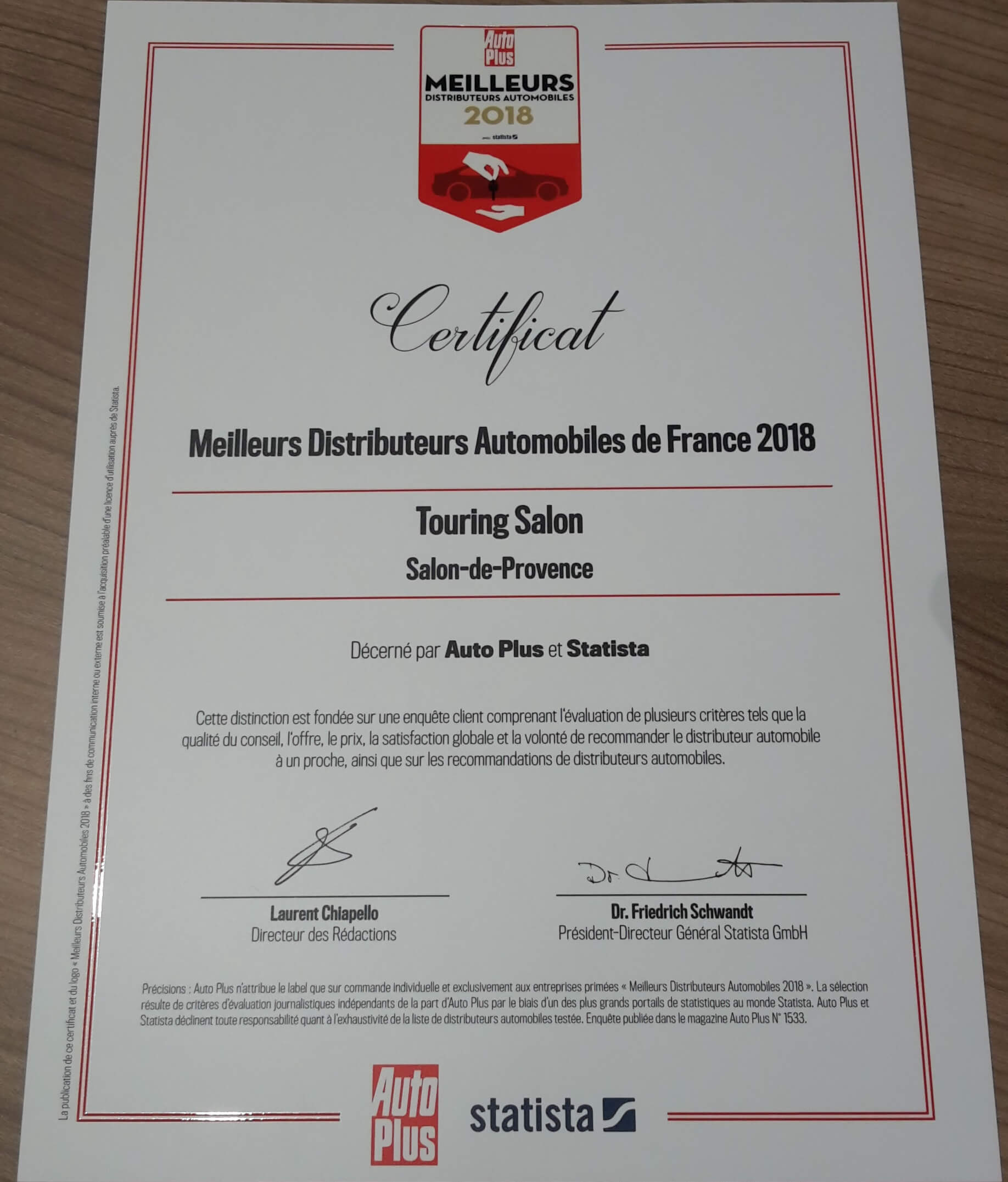 Touring salon meilleur distributeur automobile de france for Salon 2018 france