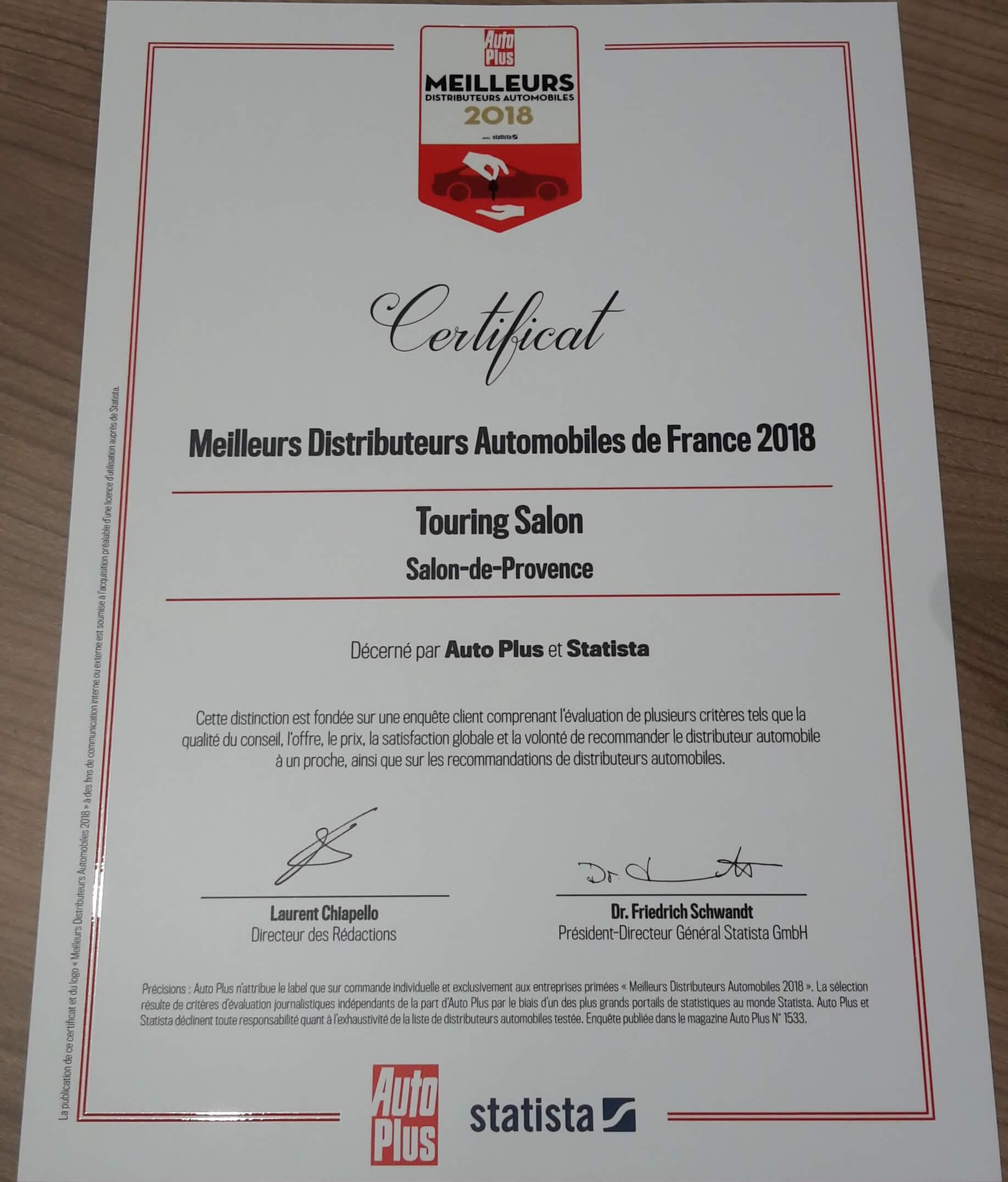 Touring salon meilleur distributeur automobile de france for Salon 2018 france